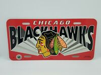 "NHL Chicago Blackhawks License Plate Hockey Decor Tag *NEW* 6""x12"" Car Truck"