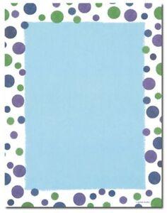 "Gartner Studios Design Paper 8 1/2"" x 11"" Blue with Green & Blue Dots 40 pack"