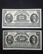 rarest 2 MEXICAN 1915 SONORA STATE  BANKNOTES SET MEXICO REVOLUTION MONEY PESOS