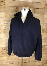 RALPH LAUREN POLO HOODED jacket coat Black On Black L MENS Winter Casual