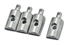 PrecisionGeek Replacement Lunchbox Aluminium Silver Body Mounts 4Pcs fits Tamiya