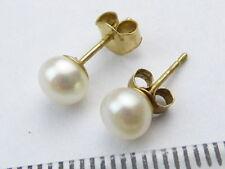 9 Carat Pearl Earrings Vintage Fine Jewellery (1980s)