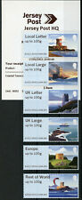 More details for jersey architecture stamps 2021 mnh coastal towers post & go b002 6v s/a strip