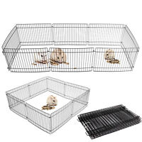 8 Panel Pet Fold Portable Guinea Pig Rabbit /Hamster Garden Play Pen Fence Cage