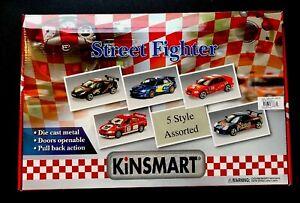 KINSMART STREET FIGHTER ASST.  BOX OF 12 UNOPENED!