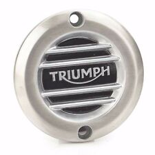 Triumph Motorcycles A9610252 Brushed Ribbed Clutch Cover Badge