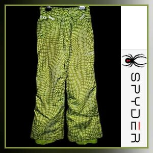 SPYDER Youth Girls 8 Green Insulated Waterproof XT Winter Snow Ski Pants