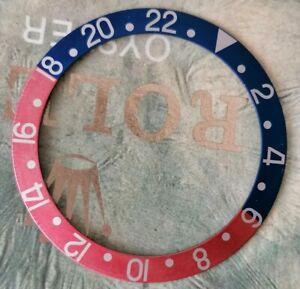 Genuine Vintage ROLEX GMT 1675/16750 Insert Bezel