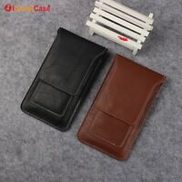 Waist hanging Belt Clip Holster PU Leather Case Cover Phone Bag For Samsung