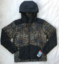 THE NORTH FACE Mens Thermoball Snow Hoodie Jacket Camo Black NWT $220 MEDIUM