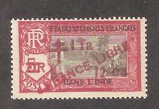 French India 1943,France Libre ,1fa12ca on 5fr,Scott # 208,VF MNH**OG (FC-4)