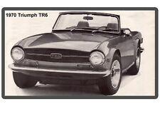 1970 Triumph TR-6 Auto Car Refrigerator / Tool Box  Magnet