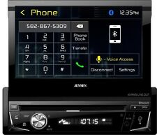 "Jensen VX3016 7"" Flip Out DVD Receiver with Built-In Bluetooth & HDMI Mirroring"