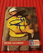 Peter Jacobsen #74 1992 Pro Set Golf Trading Card AUTO