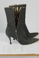 Zip Wear to Work Slim Heel Solid Boots for Women
