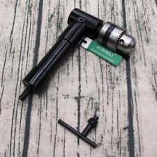 "Aluminium Right Angle Drill Attachment Bit 3/8"" Chuck Key Adaptor Adapter UK"