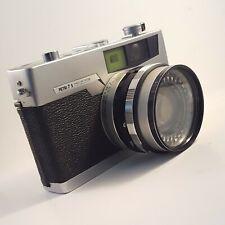 Petri 7S Vintage 35mm Film Rangefinder Camera f/1.8 45mm Lens w Case 52mm Filter