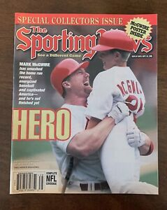 """Mark McGwire """"The Sporting News"""" Sept 23, 1998 In MINT CONDITION never Opened!!"""
