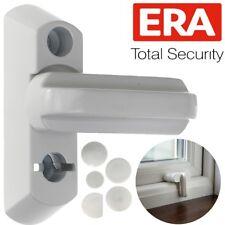 UPVC WHITE Window Door Sash Blocker Home Security Restrictor Jammer Latch Catch