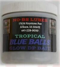 No-Bs Lures Tropical Blue Balls Glow Dp Bait - pint