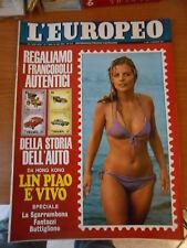 L'EUROPEO n.5-1972-+inserto i francobolli della storia dell'auto-ROBERTO BETTEGA