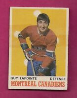 1970-71 OPC # 177 CANADIENS GUY LAPOINTE  ROOKIE TAPE CARD (INV#4052)