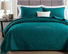Reversible Quilted Cotton Coverlet Bedspread 3pc Set Queen King 230x250cm MP026