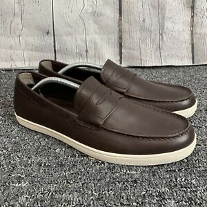 New Cole Haan Men's Hyannis Penny Loafer II Brown Leather C26467 Size 12 M USA