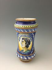 Antique Large Italian Maiolica Alberello 'LUCIOVERO' DRUG JAR