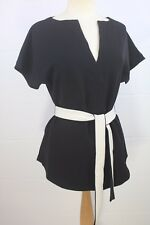 WY6    Mint Velvet Black Tie Waist Kimono Size 10