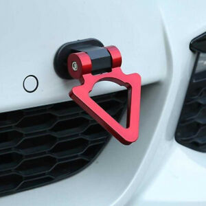 Universal Car Auto SUV Triangle Track Racing Style Tow Hook Look Decor Accessory