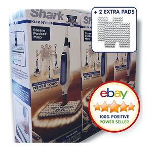 SHARK S6001UK Klik N' Flip Steam Mop - White & Blue