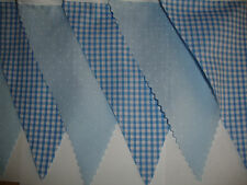 BLUE FABRIC BUNTING