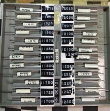 Deltronic Half-thou-Set Tenth Plug Gauge 1.1975mm To 1.2300mm, SHIPSAMEDAY#A20