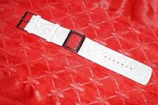 LADIES  WHITE 30MM TED BAKER  LEATHER WATCH STAP WITH CASE & SCREWS
