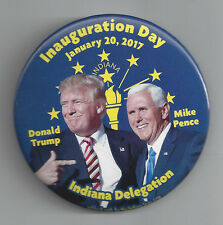 OFFICIAL 2017 INDIANA DELEGATION TO TRUMP & PENCE INAUGURATION JUGATE PIC BUTTON