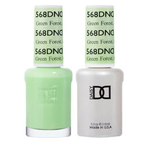 DND Daisy Duo Gel W/ matching nail polish lacquer - GREEN FOREST,AK - 568