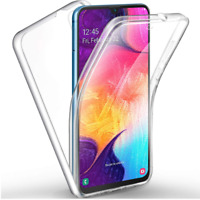 360 Shockproof Bumper Clear Case Silicone Cover for Samsung Galaxy A20S