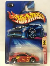 2004 Hot Wheels Red Ferrari F355 Challenge Ferrari Heat 5sp Wheels #129