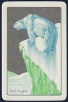 Playing Cards 1 Single Card Old Vintage Named COOL COMFORT Polar Bear Art Design