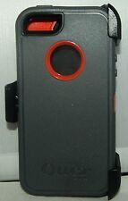New!! Otterbox Defender case & holster Belt Clip for Iphone 5/5S Gray/Orange
