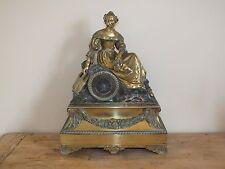 + Pendule en Bronze époque restauration - mouvement à fil signé Pons (1823) +