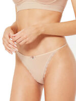 Brand New M&S Size 8,10 & 16 Peach Cotton Rich Lace Trim Thong Knickers (b4)