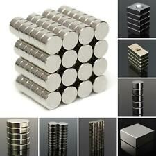 1-200pcs N50/N52/N35 Practical SuperStrong Blocks Rare Earth Neodymium Magnets P