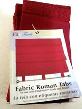 Roman Fabric Tabs 8 by Fit and Finish Accessories Window Treatment Roman Shades
