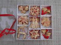 Scandinavian Swedish Norwegian Danish Straw Christmas Ornaments 34 pc #55