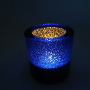 Tealight Candle Holder Cobalt Blue Jewel, Hollowick 5140CBLJ for HD-8 Liquid Wax