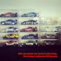 Hotwheels Tomica Matchbox 1/64 Toys Car Container PVC Protector Clear Box 10pcs