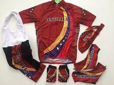 New size S - VENEZUELA Team Cycling Flag Road Bike Set Jersey Bib Shorts Gloves
