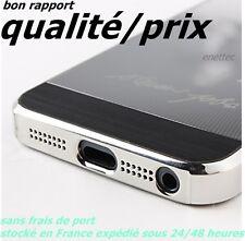 Coque étui housse Steve Jobs logo apple couleur noir/argenté pour iphone 5 5G 5S